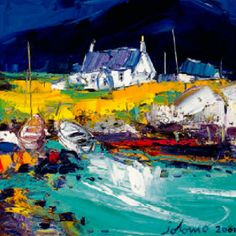 Boats, Portuairk, Ardnamurchan by John Lowrie Morrison. King & McGaw has an extensive collection of art prints by established and emerging artists, which are all framed by hand in the UK. Print Artist, Artist Art, Landscape Artwork, Abstract Landscape, Whimsical Art, Art Auction, Art Images, Framed Art Prints, Abstract Art