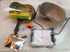 Cooking kit using polish army mess kit