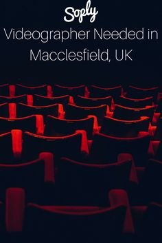 #Videographer needed to #film a play in a village hall in Rainow, Macclesfield, UK. If you're interested, find more info and apply for the #job by clicking the pin!