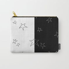 Buy Stars - Black and White Carry-All Pouch by laec. Worldwide shipping available at Society6.com. Just one of millions of high quality products available.