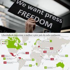 """A liberdade de imprensa """"nunca esteve tão ameaçada como agora"""" alerta um relatório divulgado nesta quarta-feira (26/04) pela ONG Repórteres sem Fronteiras (RSF). O estudo aponta situação """"difícil"""" ou """" grave"""" em mais de 70 países. No Brasil o panorama para a prática do jornalismo é descrito com notadamente sensível.  Segundo o estudo a liberdade de imprensa de deteriorou em dois terços do mundo e está sob forte ameaça não só em regimes autoritários e ditaduras mas também em países…"""