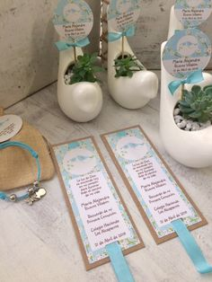 Primera Comunión aguamarina pajaros First Communion, Christening, Favors, Place Cards, Place Card Holders, Baby Shower, Diy, Wedding, Vintage