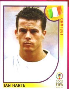 Ian Harte of Rep of Ireland. 2002 World Cup Finals card.
