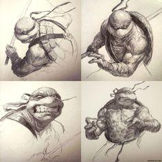 TMNT Sketch Collection •Dave Rapoza
