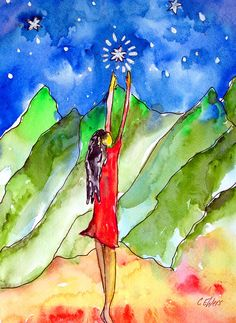 Hope Painting - Reach For The Stars by Cheryl Ehlers