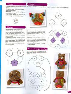"Photo from album ""Tejido Practico Crochet: Amigurumi on Yandex. Crochet Diagram, Crochet Motif, Diy Crochet, Crochet Dolls, Crochet Flowers, Crochet Patterns, African Flower Crochet Animals, Crochet Cross, Stuffed Animal Patterns"