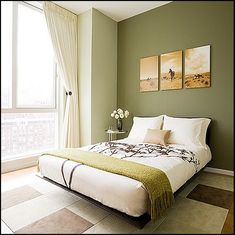 artichoke green for a guest room