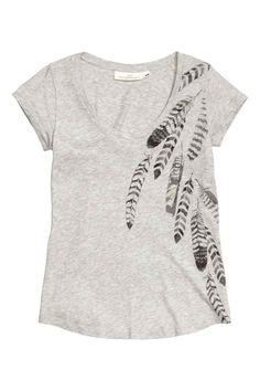 Jersey top with a print motif | H&M