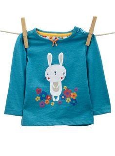 Baby Girls Long Sleeved Bunny Top