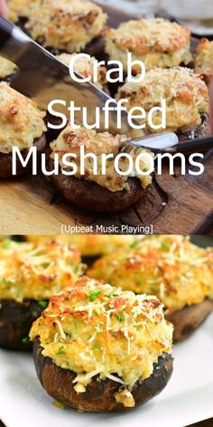 Yummy Appetizers, Appetizer Recipes, Appetizers With Meat, Cream Cheese Appetizers, Crab Appetizer, Mushroom Appetizers, Seafood Appetizers, Crab Stuffed Mushrooms, Stuffed Mushroom Recipes