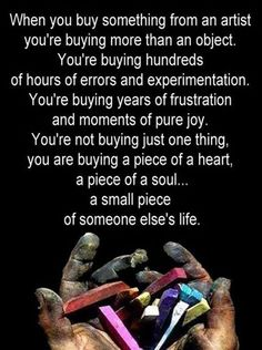 Why it's important to buy handmade from American artists - Inspirational art quotes - support local USA artists!