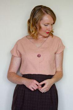 Afternoon Blouse Women's PDF Sewing Pattern Size by Jenniferlauren