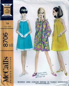 Vintage Pattern Emporium - Vintage 1960s McCalls Sewing Pattern 8706 Trapeze Dress Flared Swing Size 12 Bust 32, $13.90 (http://www.vintagepatternemporium.com/vintage-1960s-mccalls-sewing-pattern-8706-trapeze-dress-flared-swing-size-12-bust-32/)