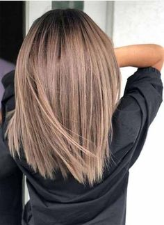 72 trendy hair color ideas for brunettes in 2019 - hairstyle ideas - . - 72 trendy hair color ideas for brunettes in 2019 lengt - Bob Hair Color, Haircut And Color, Hair Color Balayage, Brown Balayage, Balayage Straight, Balayage Long Bob, Lob Ombre, Ombre Bob Hair, Ombre Weave