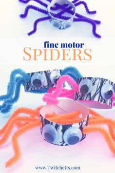 These Fine Motor Spiders are a great way to have some fun while developing your little ones fine motor skills.