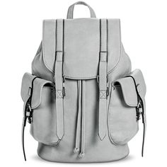 Women's Solid Cargo Backpack Handbag - Gray, Grey ($35) ❤ liked on Polyvore featuring bags, backpacks, grey, mossimo, gray backpack, mossimo backpacks, drawstring backpack bags and gray bag