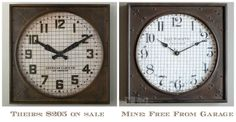 Restoration Hardware Inspired Clock Knock Off with Before & After, Bliss-Ranch.com