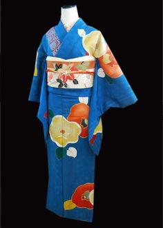 椿の逸品訪問着・大正ロマン小紋アップしました! | kimono sarasa