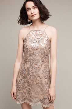 Poisat Sequined Halter Dress Anthropology boho occasion cocktail dress