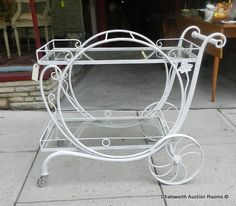 Salterini Mt Vernon patio tea cart 1940s  offered on eBay starting at $650.00