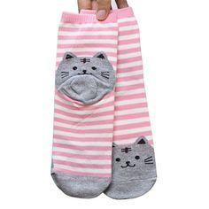 c69f60d411704 Heel Kitty Socks – FreakyPet Neuheiten, Streifen, Frau, Baumwoll-socken,  Gemütliche