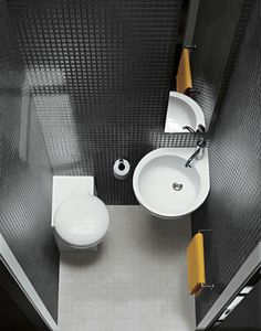 Small bathroom ideas – space-saving bathroom furniture and many clever solutions The post Small bathroom ideas – space-saving bathroom furniture and many clever solutions appeared first on Best Pins for Yours. Corner Toilet, Toilet Room, Small Toilet, Corner Sink, Room Corner, Bathroom Floor Tiles, Bathroom Toilets, Washroom, Bathroom Bath