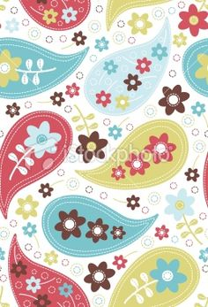 Paisley Two Seamless Pattern Royalty Free Stock Vector Art Illustration