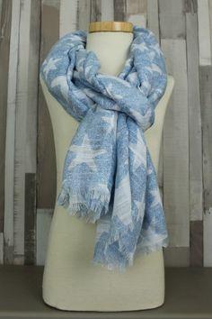 shawl star blue