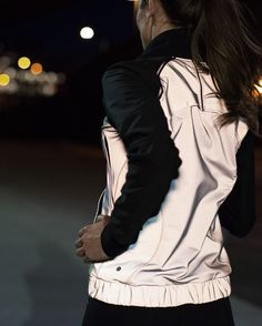 Bright Bomber Jacket   We designed this jacket with fully reflective and breathable fabric to help keep us visible when we're pounding the pavement before the sun comes up. Light up the night? We got it