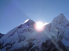 Sunrise over the summit of Everest ... Beautiful time and place to be!