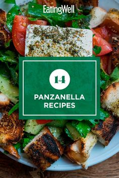 Make a delicious main or side dish with these panzanella recipes. A panzanella is a Tuscan salad that's traditionally made with stale bread and tomatoes. Here, we put our spin on the bread salad with different flavor and ingredient combinations. #salads #saladrecipes #healthysalads #saladideas #healthyrecipes Tuscan Salad, Bread Salad, Stale Bread, Healthy Salads, Lettuce, Lunches, Pasta Salad, Salad Recipes