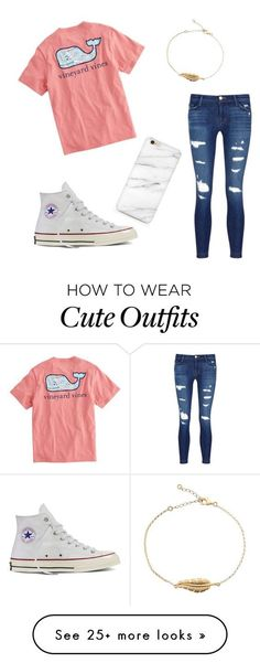 Cute And Comfty outfit for a school day, or a day out in the country! by comftyandcuteoutfits on Polyvore featuring J Brand, Vineyard Vines, Converse