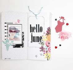 June is one of my favorite months. Pool side pics, sunny days and flip flops  It doesn't get better then that.  I made a little boo-boo while working on this layout. If you want to see how I fixed it, head on over to my YouTube channel and whatch my Process video. Link in bio  . . . #travelersnotebook #travelersnotebooklayout #mylittlejournal #scrapmyscraps #scrapbook #scrapbooking #kellypurkey #dearlizzy #illustratedfaith #creative