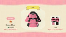 Luna Chai's patterns for Animal Crossing: New Horizons — Luna Chai
