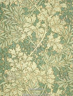 Foliage wallpaper, by William Morris. England, 19th century                                                                                                                                                                                 More
