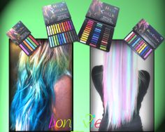 Haar Kreide Haarfarb Haarkreide Färben Haartönung 6 12 24 36 Farben Hair Chalks
