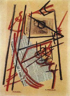 Enrico Prampolini, Ritmi spaziali, 1913.