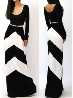Designed Casual Round Neck Long Sleeve Blended  Maxi-dress