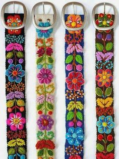 Colourful embroidered belt can be a true highlight of your look