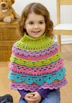 poncho colorido para nenas