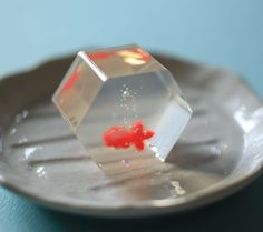 wagashi: Goldfish made with Ager. Japanese Sweets, Japanese Wagashi, Japanese Food, Traditional Japanese, Candy Art, Healthy Sweets, Cute Food, Confectionery, Food Design