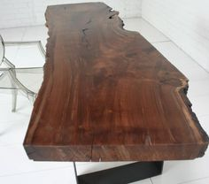 Dinning room table- want Dinning Room Tables, Walnut Slab, Modern Industrial, Accent Furniture, Home Projects, Accent Decor, Sick, Conference Room, Sweet Home