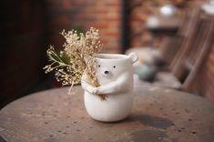 Ceramic Flower Pots, Ceramic Vase, Zoo Keeper, Stoneware, Sculpture, Ceramics, Paper, Flowers, Handmade
