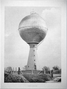 """Bernd & Hilla Becher: """"Wasserturm Viviers, Belgien"""" 1976, signiert"""