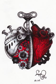 A Clockwork Anatomical Heart Art by devil urumi