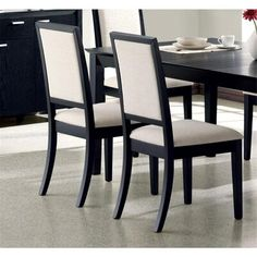 Looking for Coaster Home Furnishings Set 2 Dining Chairs Creme Chemile Distressed Black Finish ? Check out our picks for the Coaster Home Furnishings Set 2 Dining Chairs Creme Chemile Distressed Black Finish from the popular stores - all in one. Black Dining Room Chairs, Upholstered Dining Chairs, Dining Chair Set, Dining Room Furniture, Furniture Sets, Dining Table, Dining Rooms, Kitchen Tables, Deco Furniture