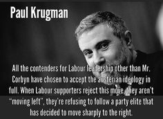 Corbyn Economics & Labour; the view from Nobel-prize-winner Paul Krugman (New York Times) http://nyti.ms/1SIwPzs