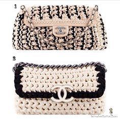 Crochet clutches from Chanel / Summer 2014. vote your fav, 1 or 2?