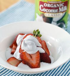 Coconut Milk Whipped Cream - substitute refined sugar for coconut sugar (turns the cream a light brown)- YUM! Perfect on Paleo Mug Brownie found here: http://fastpaleo.com/recipe/two-minute-paleo-mug-brownie-2/