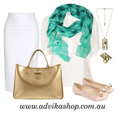Add nature-inspired accessories to your office attire to create a fresh and elegant in- season look. Featuring Lush floral print #scarf - $24.90, Paradise Necklace and cocktail ring all available from #Advika.